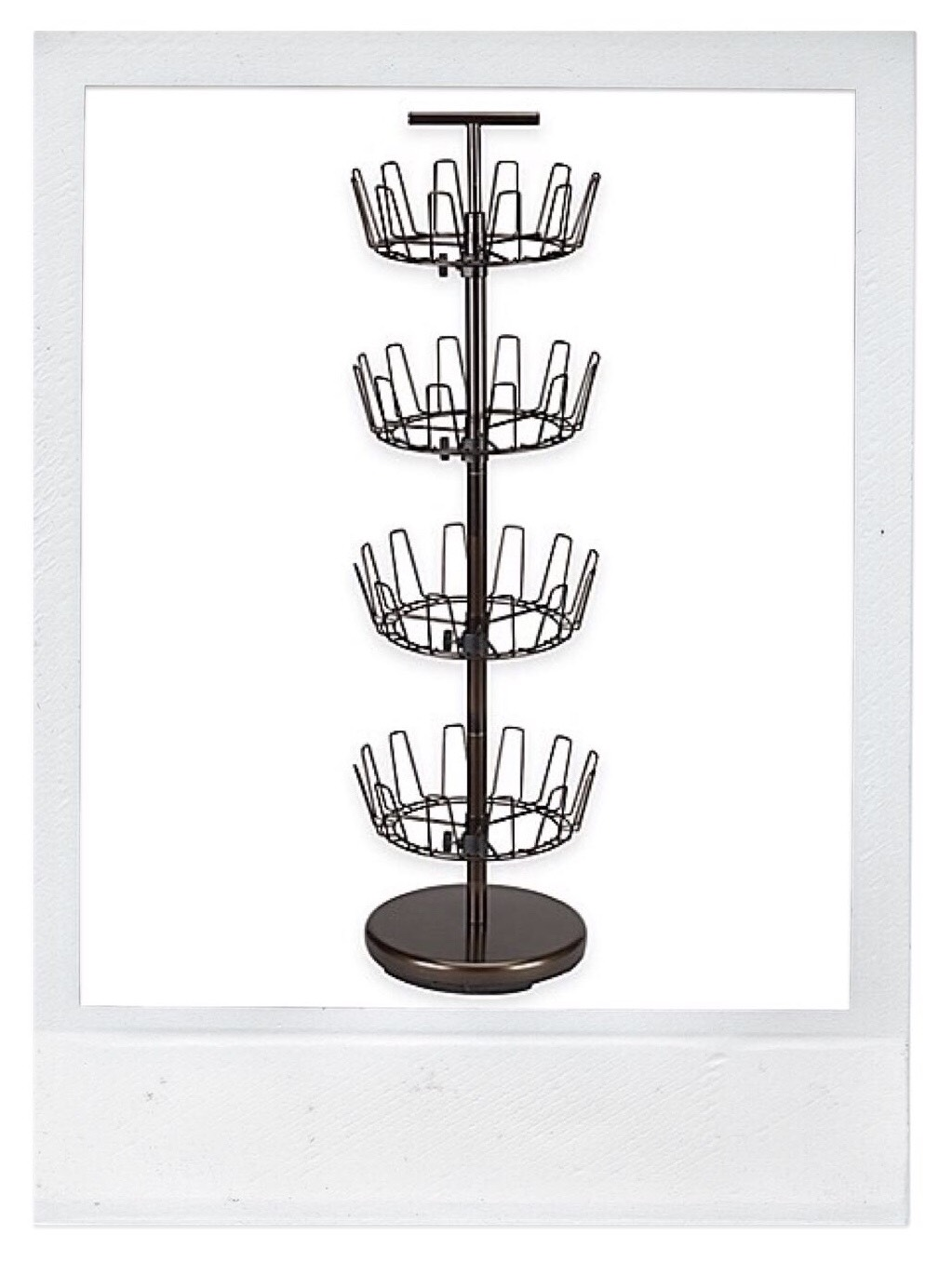 Shoe Storage - rotating shoe tree rack