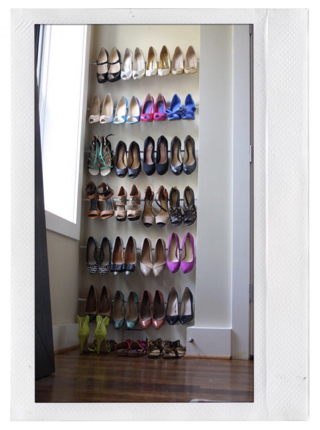 Shoe Storage - Use Tension Rods