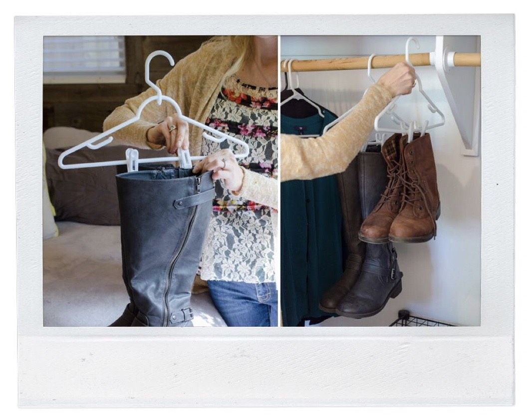 Shoe Storage - Use Hangers