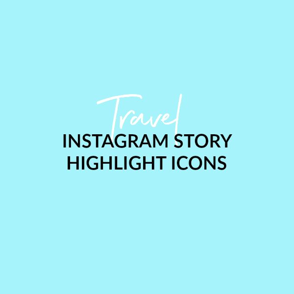 Travel IG Story Icons