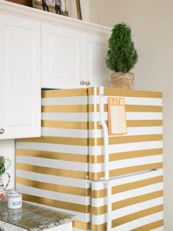 Washi Tape Fridge - Make Your Home Look Like A Million Bucks