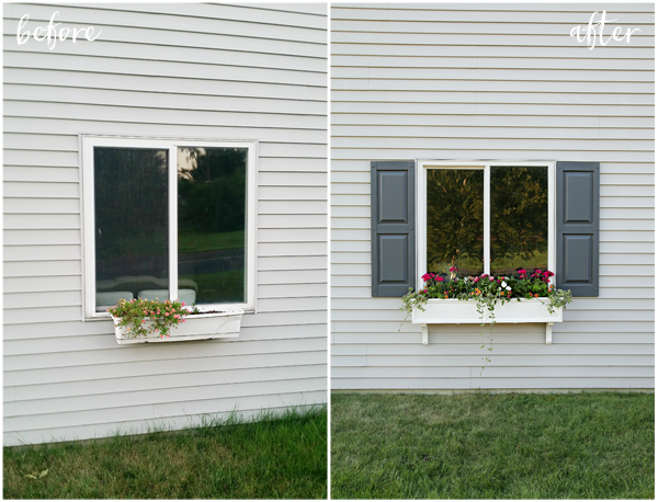 Window Box & Shutters - Make Your Home Look Like A Million Bucks