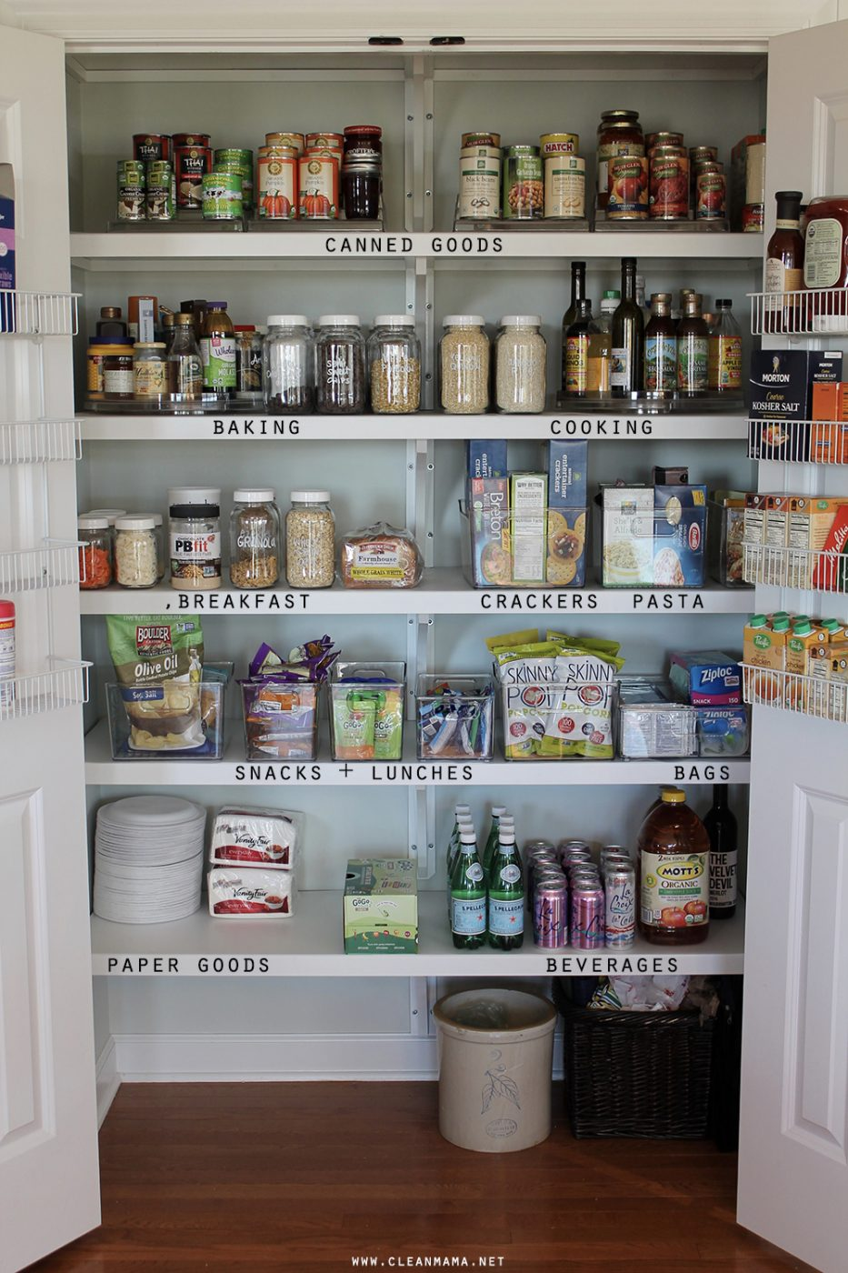 Pantry Organization - Label Shelving