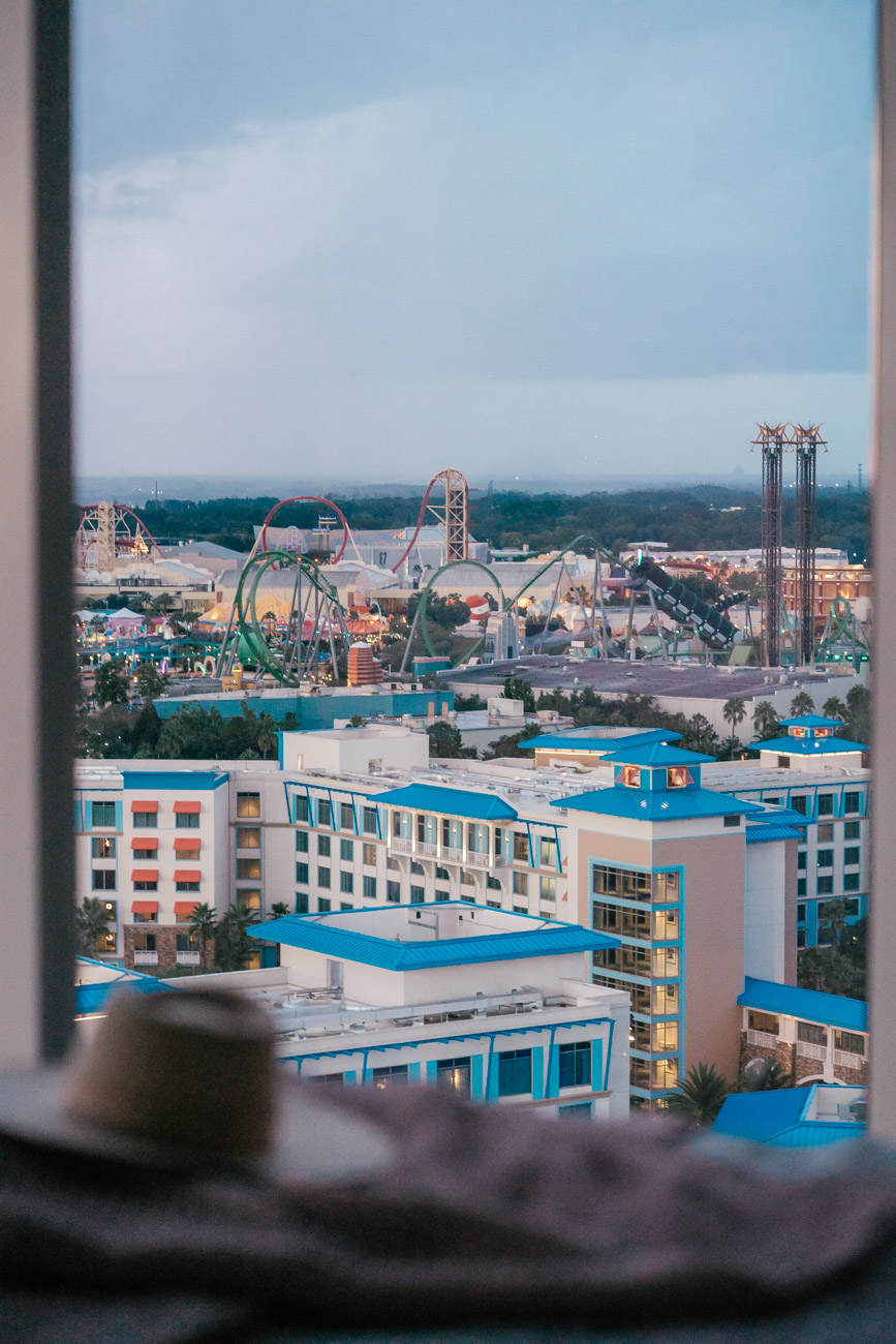 Universal's Aventura Hotel Room View of Theme Parks- Sweet Teal