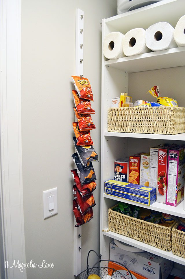 Pantry Organization - DIY Chip Clip Rack
