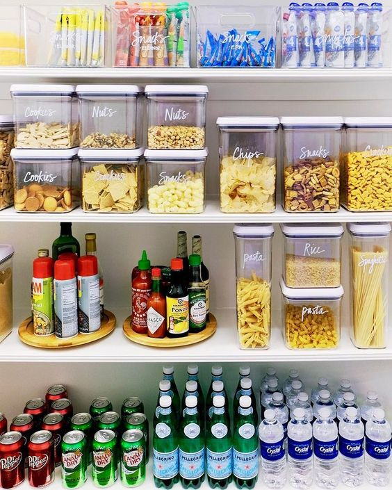 Pantry Organization - Organize by Color