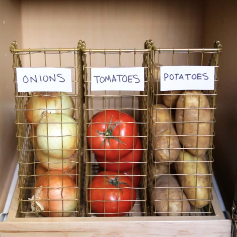 How To Organize Your Pantry - Using File Folders For Vegetables