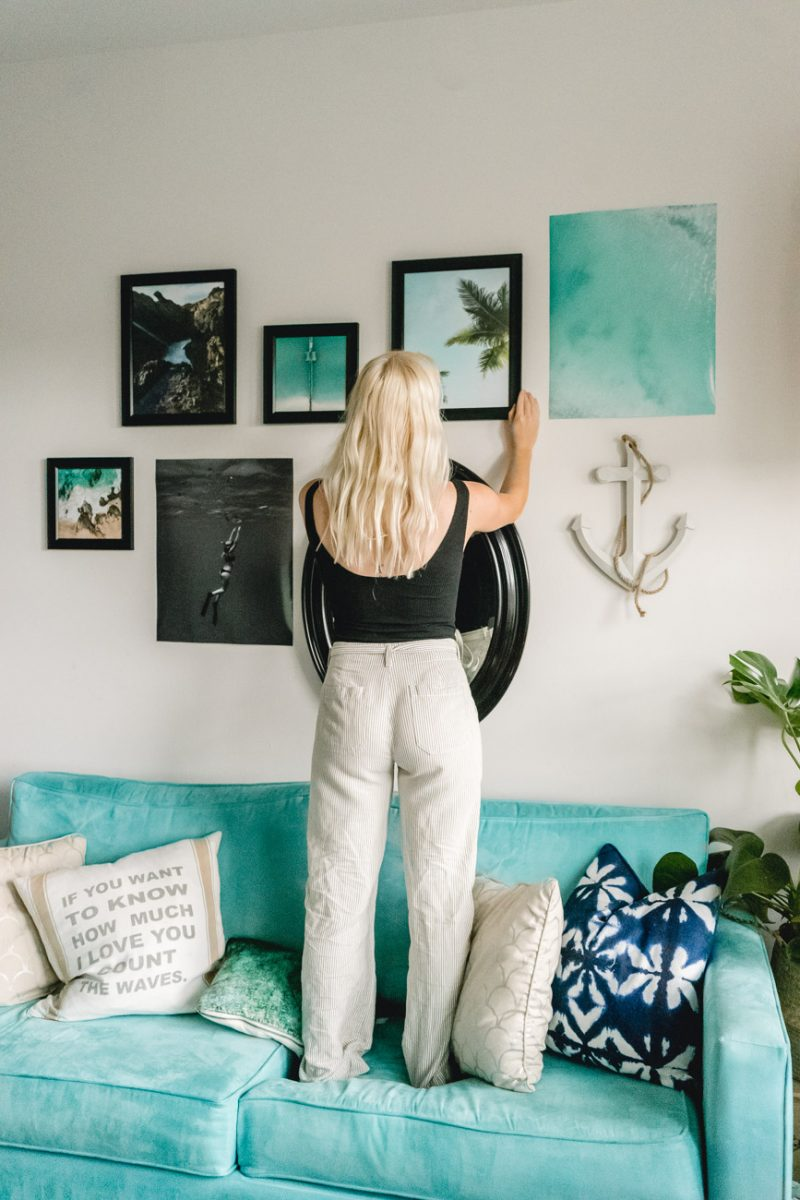 Gallery Wall Tips & Tricks - Sweet Teal by Jenny Bess