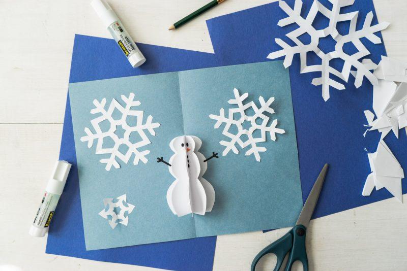 Pop Up Snowman Card