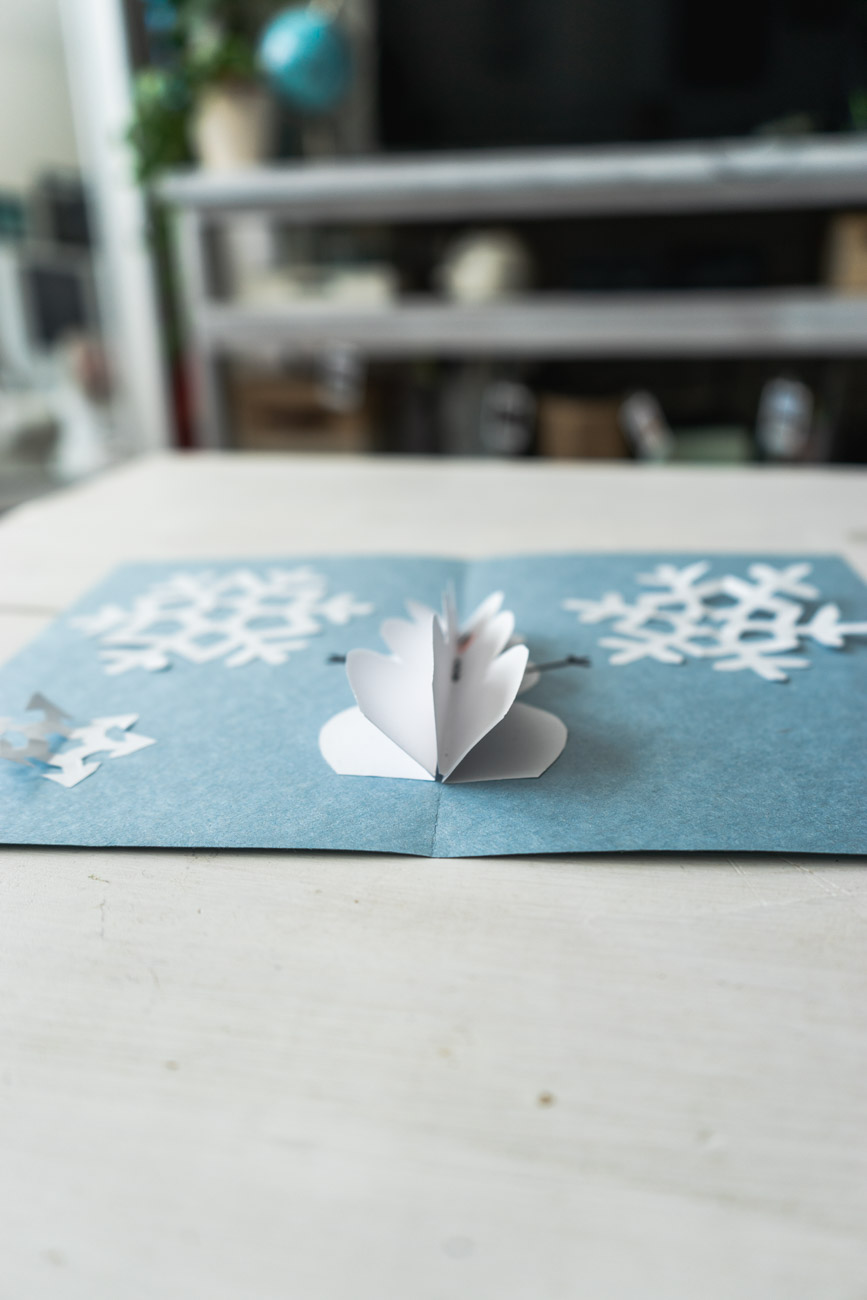 DIY Pop Up Christmas Cards - Snowman