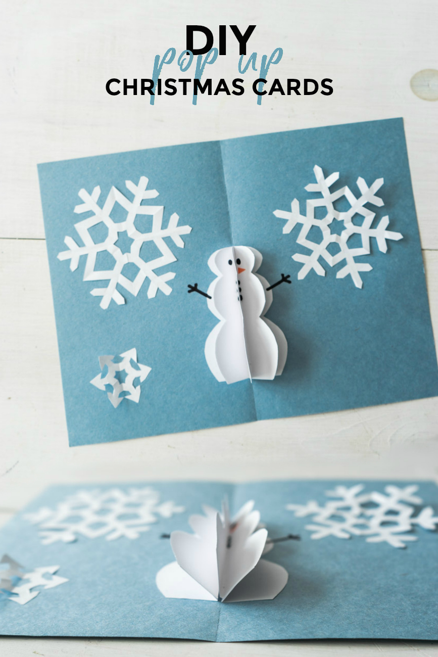 DIY Pop Up Christmas Cards - Snowman Card - Sweet Teal