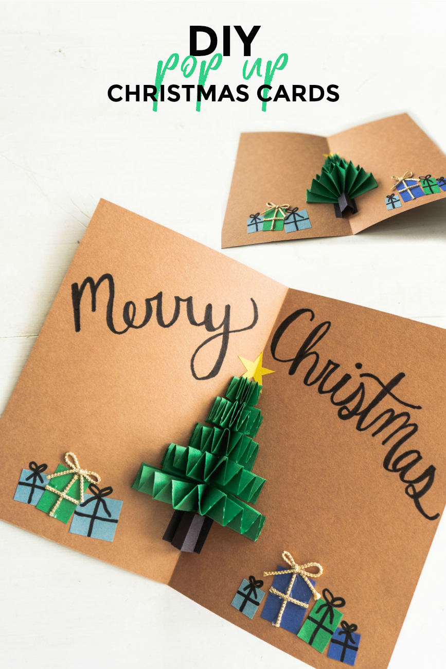DIY Pop Up Christmas Cards - Christmas Tree Card - Sweet Teal