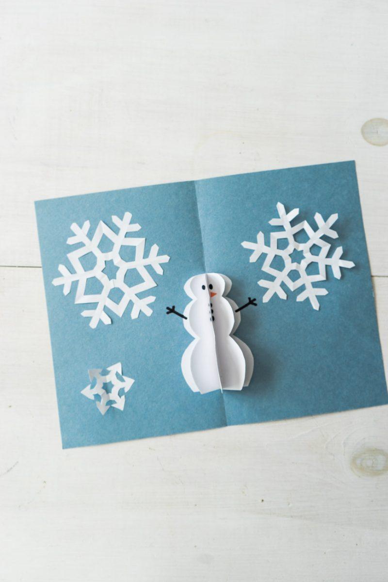 DIY Pop Up Christmas Cards - Snowman Card