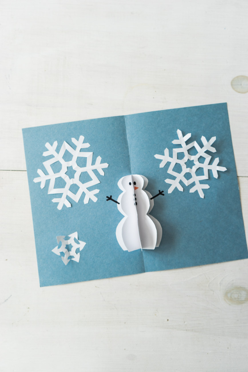 DIY Pop Up Christmas Cards - Snowman Card