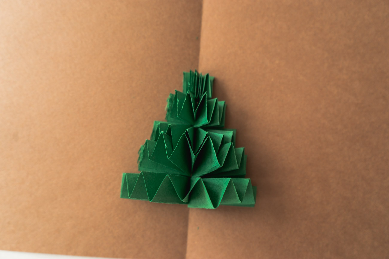 DIY Christmas tree card - sweet teal