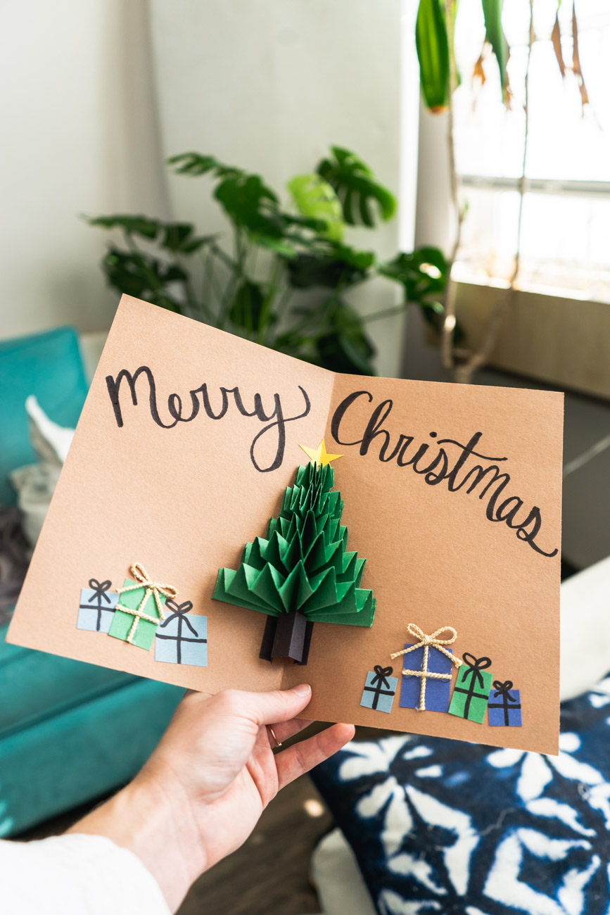 DIY Pop Up Christmas Tree Card - Sweet Teal