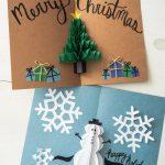 DIY Pop Up Christmas Cards (2 Ways)