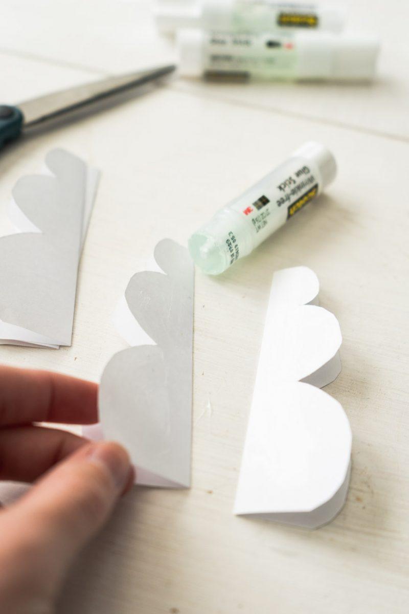 Glue snowman pieces together