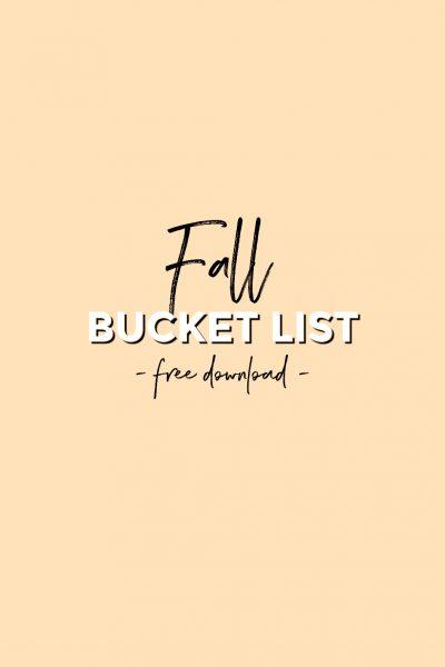 24 Fall Activities Bucket List (Free Printable!)