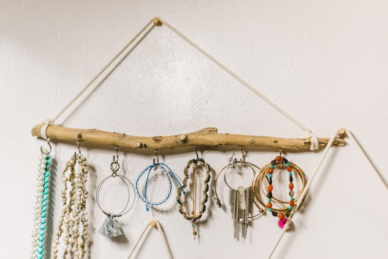 How to make your own jewelry holder out of a stick