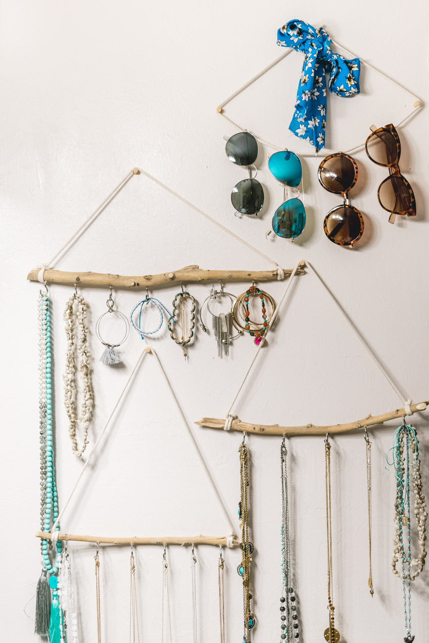 DIY jewelry & accessories holder - sweet teal