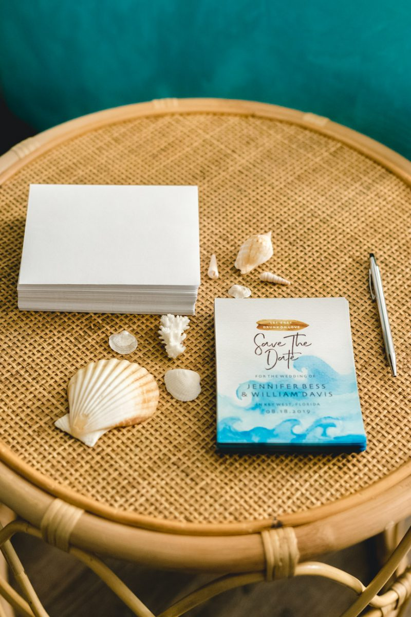 Tropical Save The Dates - Jenny Bess of Sweet Teal
