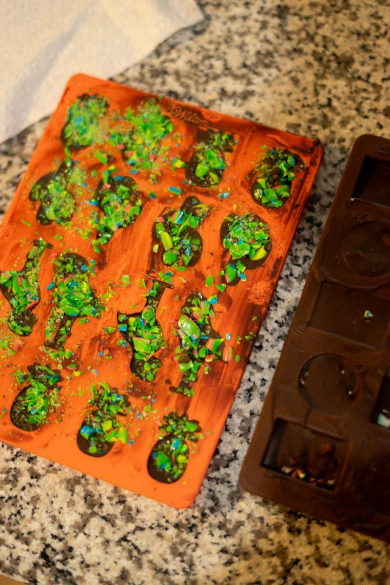 CBD Oil Chocolates in Molds
