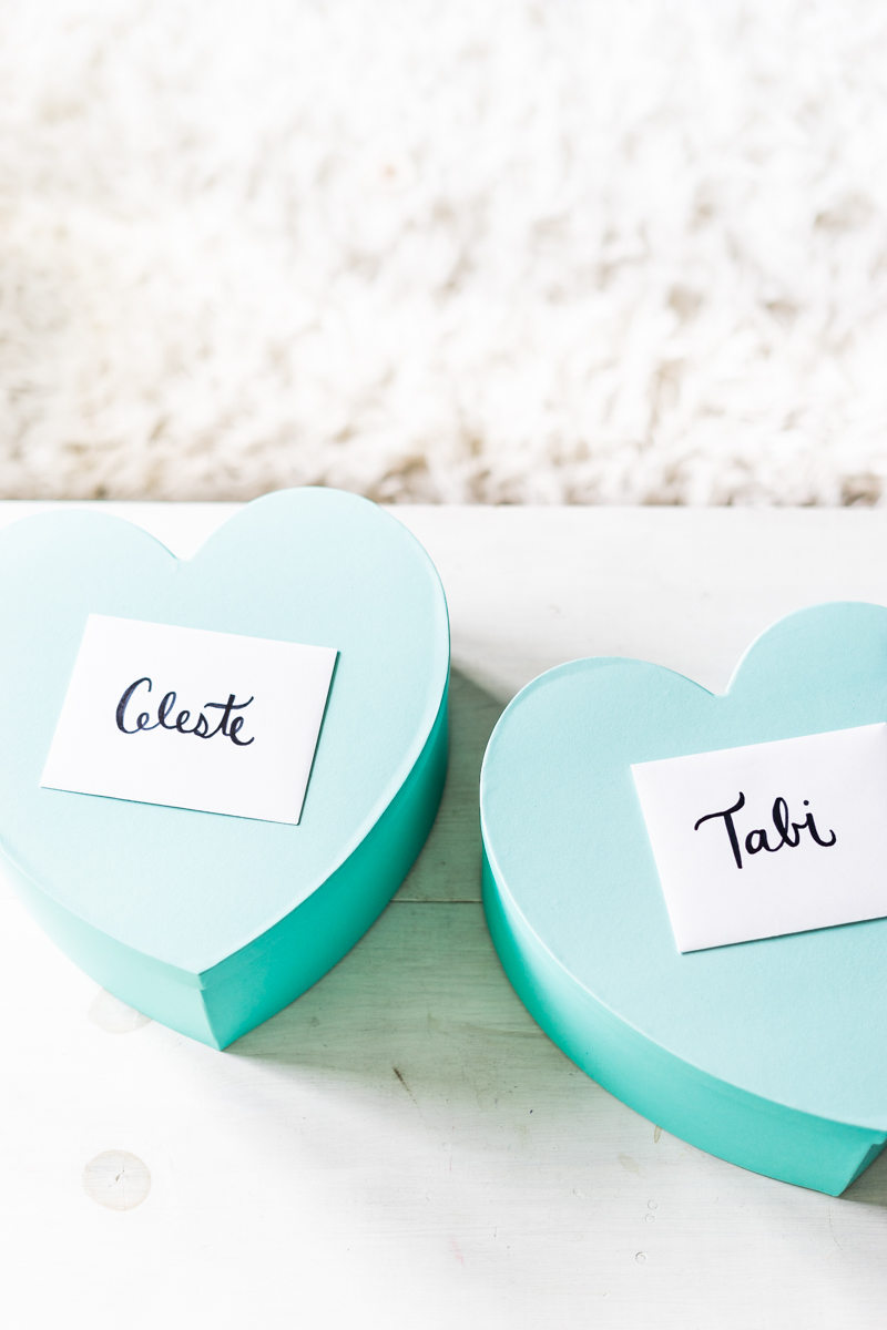 DIY Bridesmaid & Maid of Honor Boxes - Sweet Teal