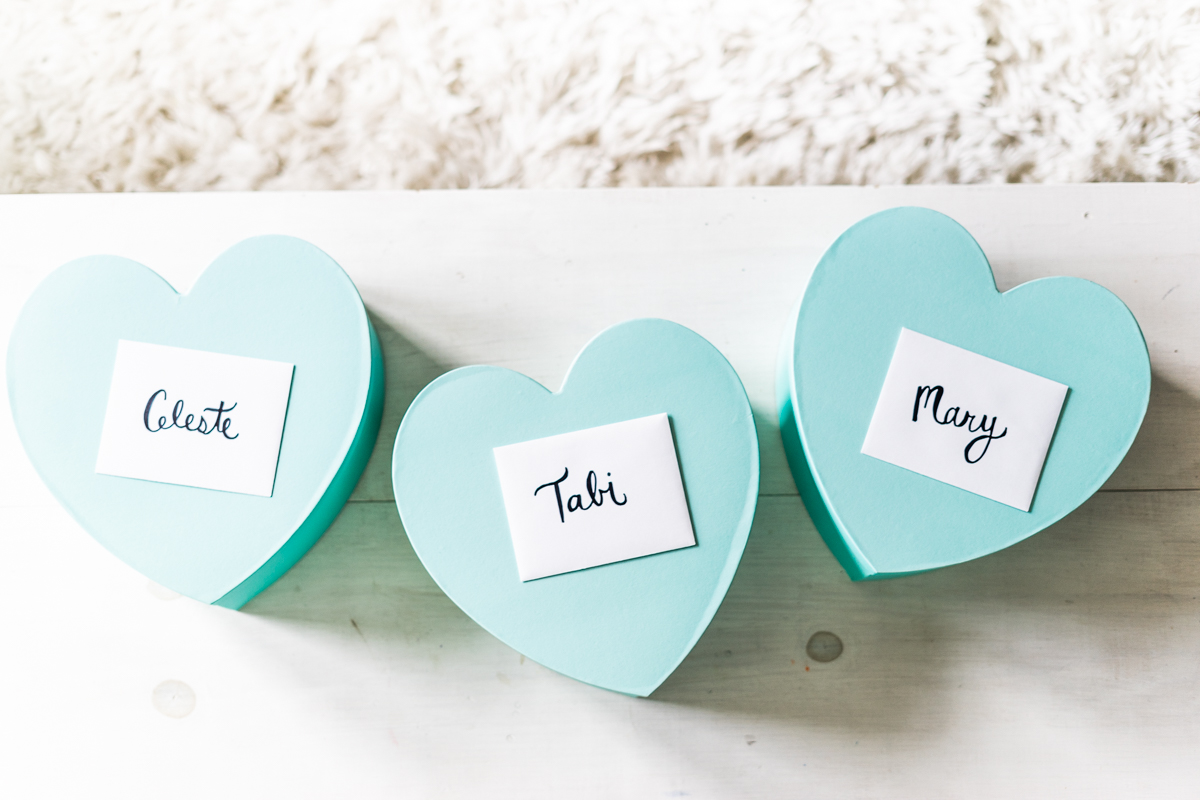 DIY Bridesmaid Boxes - Sweet Teal