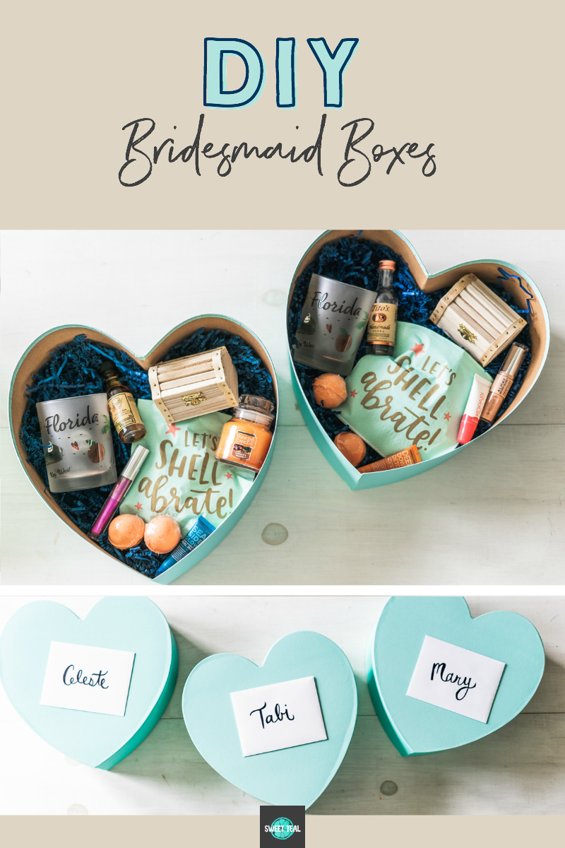 DIY Bridesmaid Boxes - How To Ask Your Bridesmaids - Sweet Teal