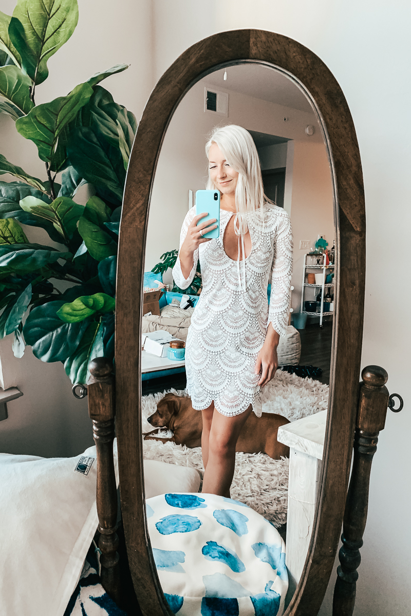 Jenny Bess wearing For Love & Lemons - Short White Dresses