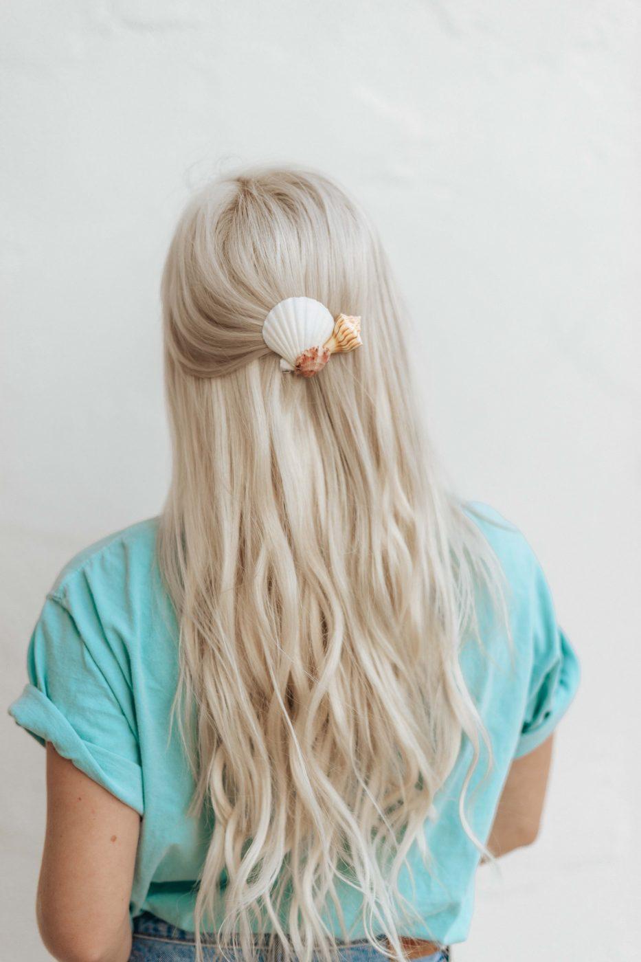 DIY Seashell Hair Clip - Sweet Teal by Jenny Bess